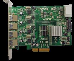 Quad Bus USB 3.0 PCI-e adapter