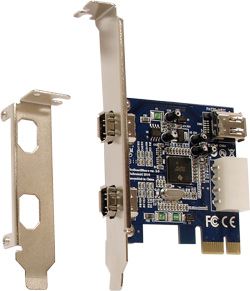 FireBoard Blue-e™ 1394a OHCI PCI-Express adapter